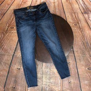 Kut From The Kloth 6 Skinny Raw Hem Jeans Crop